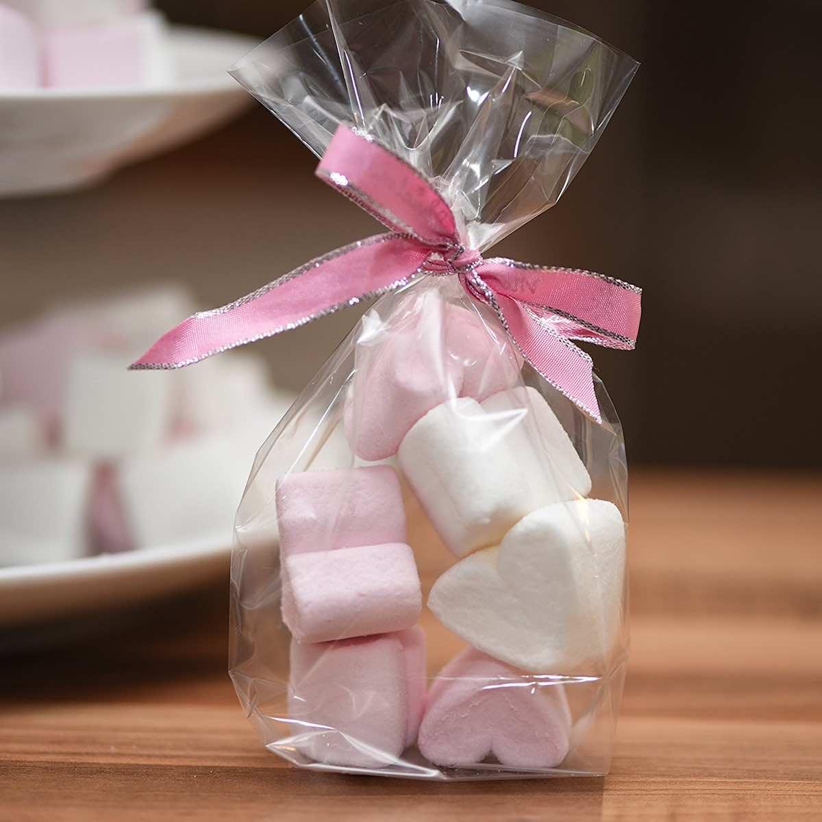 Marshmellow-Herzen für die Hochzeit in Augsburg