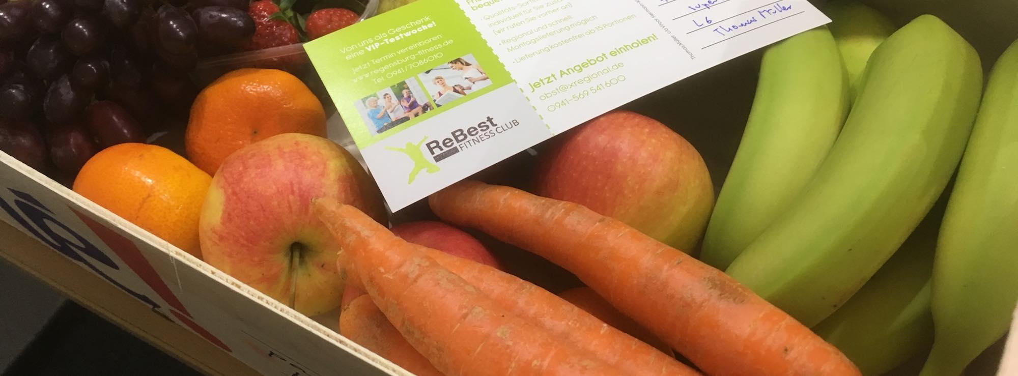 Karotten plus 4 kg gemischtes Obst für einen Mainzer Kunden