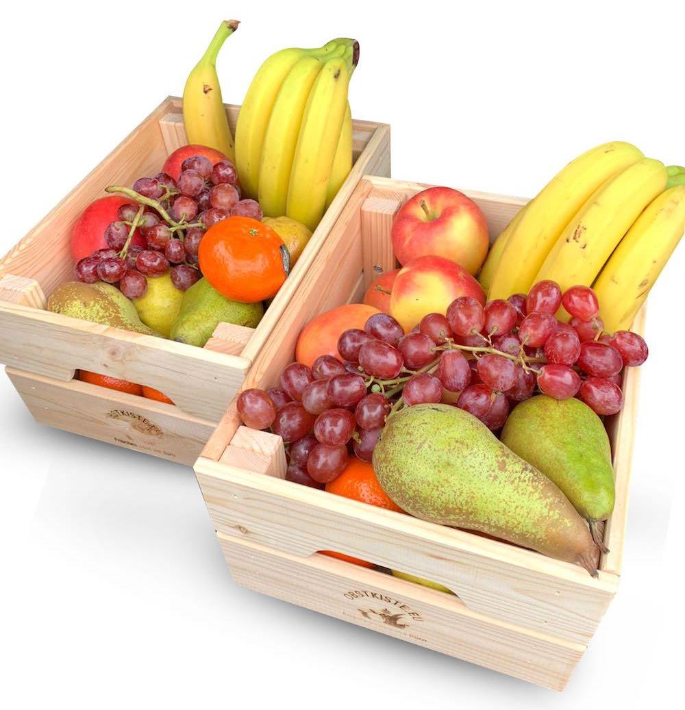 Äpfel, Birnen, Bananen + Saisonobst
